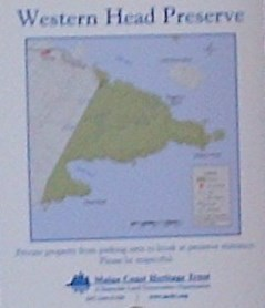 Map of Western Head Preserve Cutler Maine