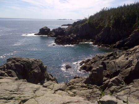 Cove along shore of Western Head Preserve, Cutler, Maine