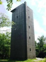 Observation tower at Fort Baldwin, Phippsburg, Maine.