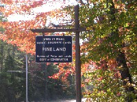 Pineland recreational area in Maine