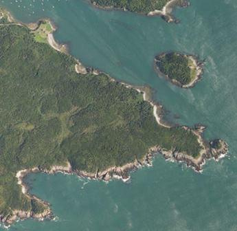 Overhead Imagery of Western Head Preserve Cutler Maine