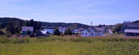 View of Cutler, Maine as you proceed along Eastern Knubble Trail.