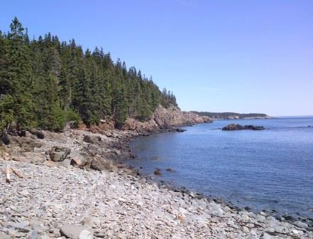 East View of Maine Coast from end of the Eastern Knubble Trail.