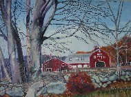 Fall Farm Scene in Maine