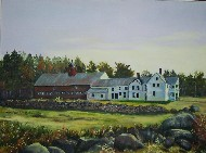 Maine farm painting