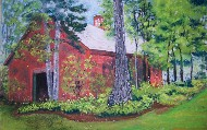Painting-of-Maine-barn