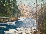 Maine-winter-stream-painting