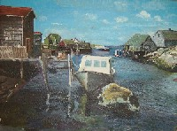 Painting of a Maine Harbor